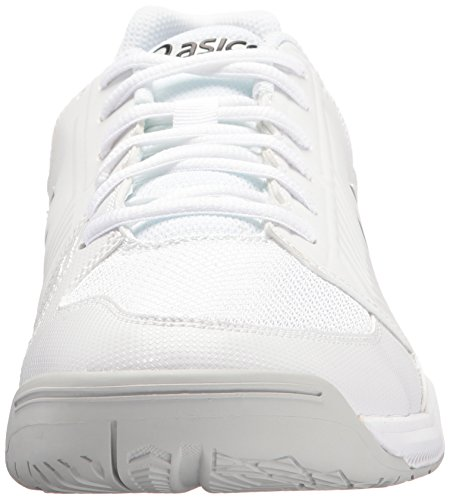ASICS Men's Gel-Dedicate 5 Tennis Shoe, White/Silver, 11 M US