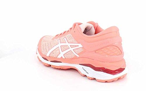 Womens Kayano Seashell Gel Shoe Running ASICS Pink 24 White Pink Begonia BPxRdEa