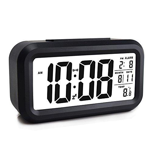 Ewtto Smart Digital Desktop Alarm Clock Battery Operated 4.6