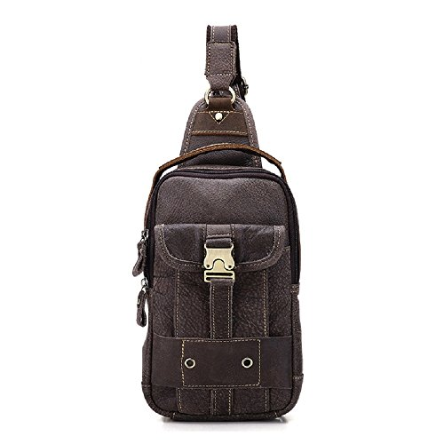 Mens Gray Genuine Leather Ynxing Shoulder Bag Sq8xIv
