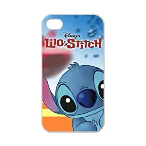 Zyhome iPhone 4,4S Lovely Lilo & Stitch Ohana Case for iPhone 4,4S 100% TPU (Laser Technology)