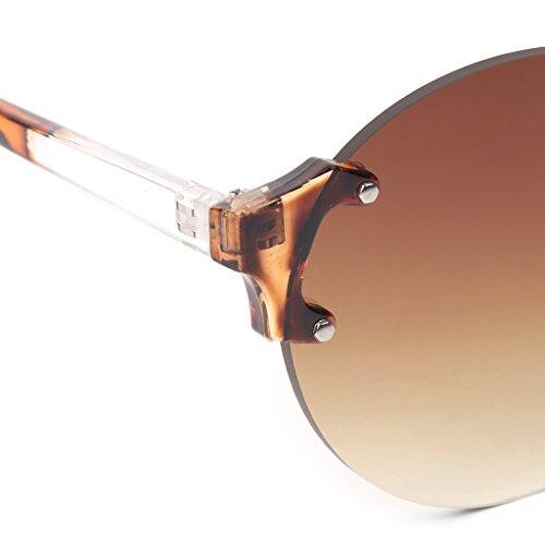 Loegrie de vintage nbsp;paire Steampunk monture 1 rond sans Marque 001 de Designer Mode 2 Nuances Unisexe lunettes soleil qffpU