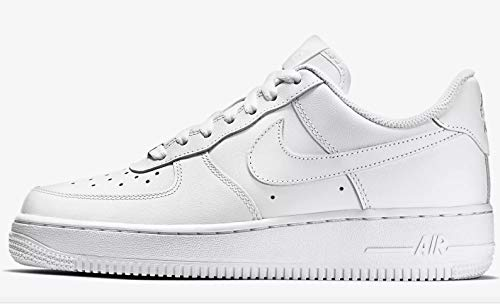 (Nike Air Force 1 ´07, Women's Low-Top Sneakers, Weiß (White/White), 4.5 UK)