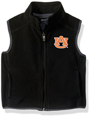 NCAA Auburn Tigers Kids & Youth Boys Scrimmage Polar Fleece Vest, Black, Youth X-Large(18) by NCAA by Outerstuff