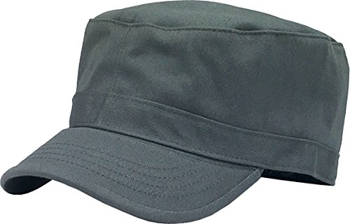 KBK-1464 DGY XL Cadet Army Cap Basic Everyday Military Style (Womens Fitted Cap)