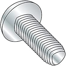 """Steel Thread Rolling Screw for Metal, Zinc Plated, Pan Head, Phillips Drive, 1/4""""-20 Thread Size, 1-1/4"""" Length (Pack of 25)"""