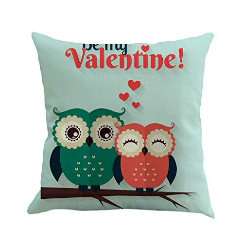 scamper Happy Valentine's Day Throw Pillow Covers Kiss Romantic Gift Love Flax Pillowcase Cushion Cases Decorative 45X45cm