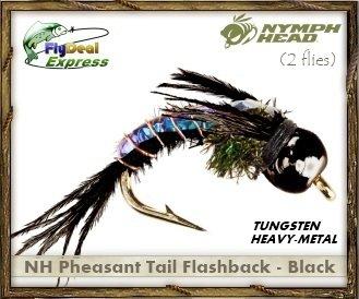TAIL FLASHBACK BLACK - Nymph (2-pack) (Bead Head Nymphs)