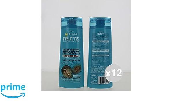Juego 12 Fructis Champú 250 Anticaspa Shampoo y Acondicionador Anticaída de venta online: Amazon.es: Belleza