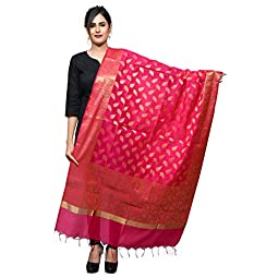 Banjara India Women's Woven Design Cotton Silk Dupatta