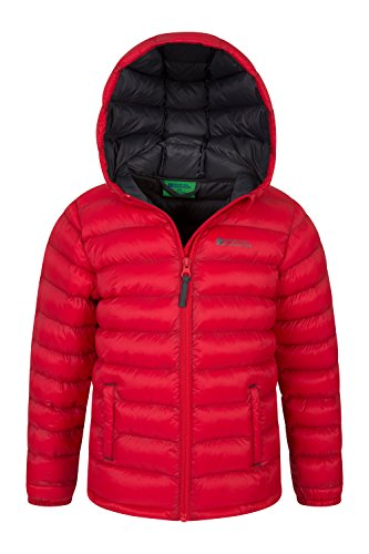 Cuffs Jacket Padded 2 Warehouse Water for Jacket Coat Seasons Mountain Front Pockets amp; Elastic Resistant Kids Travelling Rain Red Summer Boys Lightweight Casual Jacket Sp6tqx