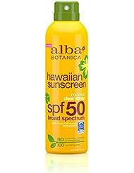 Alba Botanica Hawaiian, Coconut Spray Sunscreen SPF 50, 6 Ounce