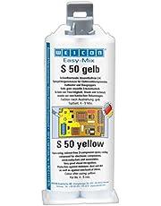 Weicon 10651050 Easy-Mix S 50 sarı, 2-K epoksi döküm kütlesi, elektronik bileşenler için