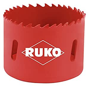 Ruko 106073 - Corona perforadora HSS bimetal, dentado variable (73 mm)