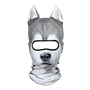 AXBXCX 3D Animal Neck Gaiter Warmer Windproof Full Face Mask Scarf for Ski Halloween Costume 2