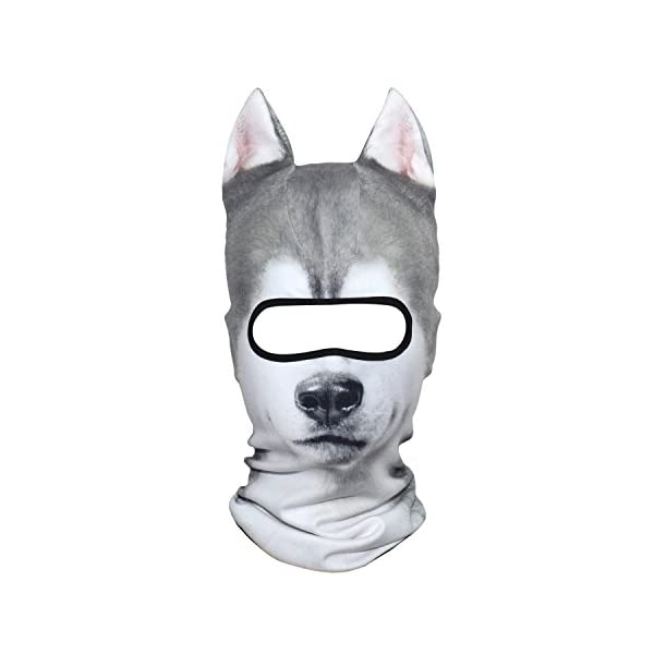 AXBXCX 3D Animal Neck Gaiter Warmer Windproof Full Face Mask Scarf for Ski Halloween Costume 1