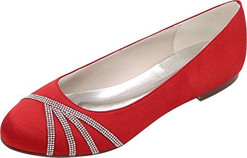 Nice Femme 36 Compensées Red Rouge Sandales Find 5 tdn6FwYtqx
