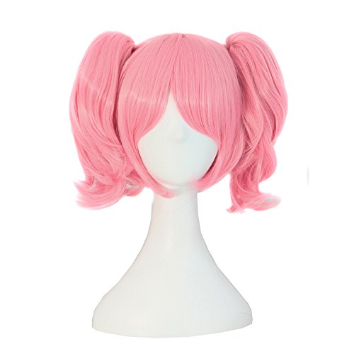 MapofBeauty Lolita Sweet and Lovely Straight Anime Cosplay Wig (Pink) ()