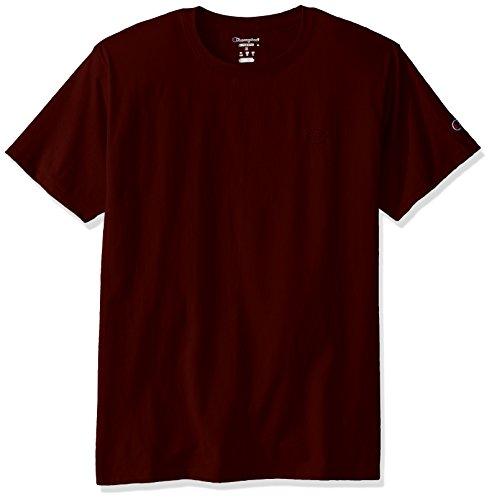 Champion Men's Classic Jersey T-Shirt, Maroon, XL (Mens Red T Shirt Xl)