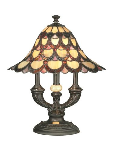Dale Tiffany TA70112 Peacock Table Lamp - Antique Bronze