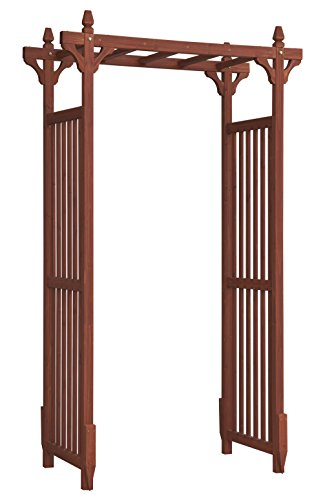 Convenience Concepts Mission Garden Arbor, Red -