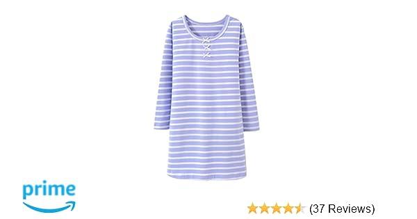 e6f54ff50f35 Amazon.com  Allmeingeld Girls  Stripes Nightgowns Bowknot Sleep ...