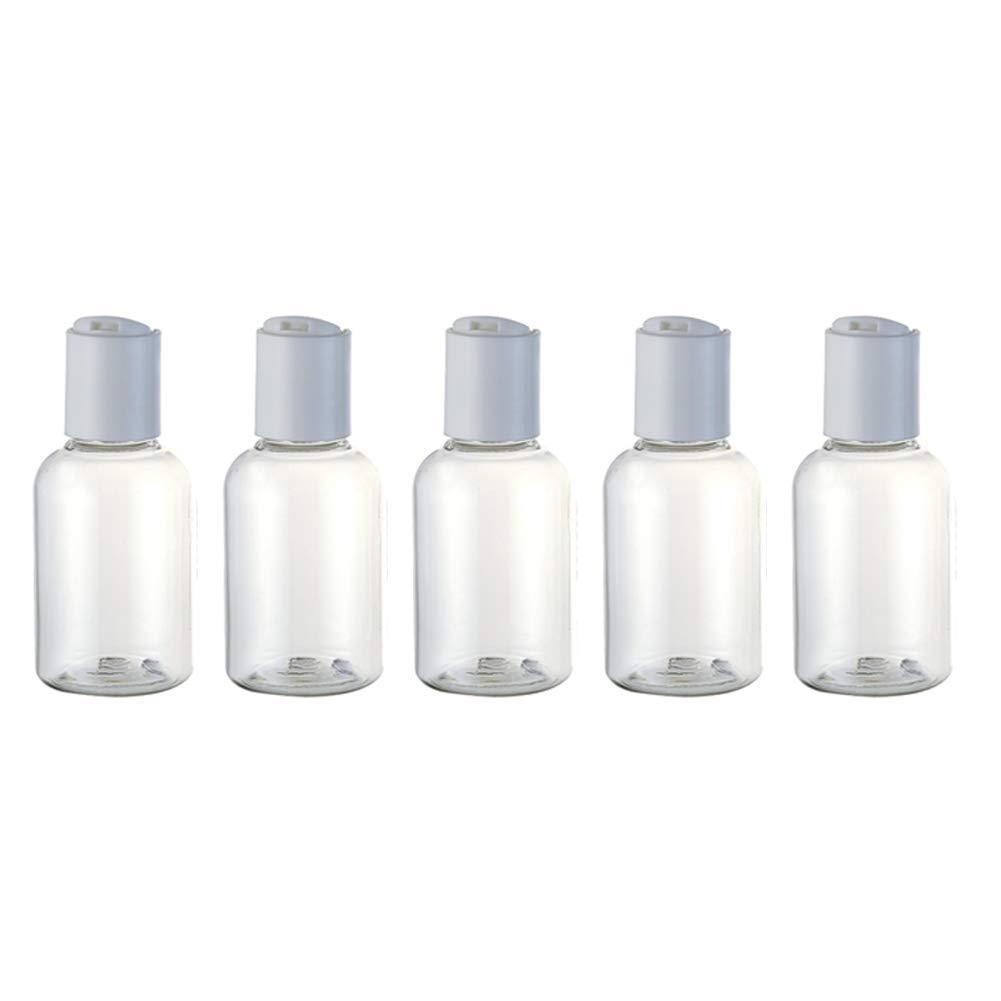 5pcsTransparent ljym88 R/écipient en Plastique de shampooing r/égl/é par /émulsion en Plastique portatif r/égl/é de Bouteille