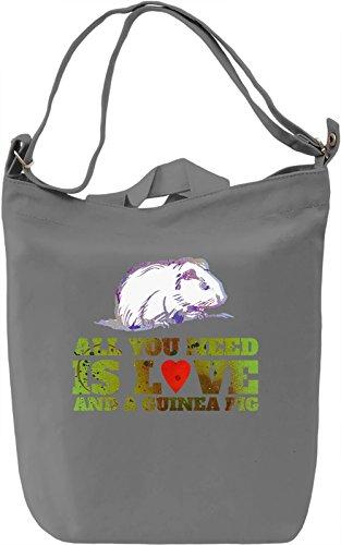 Love And A Guinea Pig Borsa Giornaliera Canvas Canvas Day Bag| 100% Premium Cotton Canvas| DTG Printing|