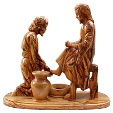 Jesus Washes Peter's Feet Statue - Made in Bethlehem