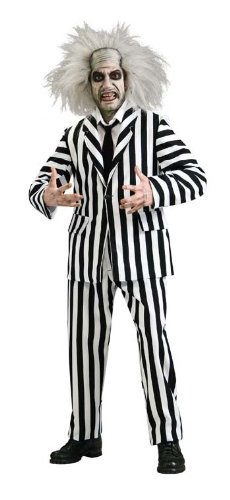 [Super Deluxe Beetlejuice Costume - X-Large - Chest Size 50] (Deluxe Beetlejuice Adult Halloween Costumes)