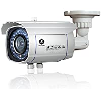 Security Bullet Camera, Savvypixel 2.0 Megapixel HD 1080P 4 in 1 TVI/CVI/AHD/CVBS Security Cameras, Night/Day Outdoor Surveillance Camera with 2.8-12mm Lens( White)