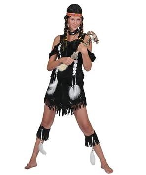 Pierro S Kostum Indianerin Malia Frau Indianer Damenkostum Kleid