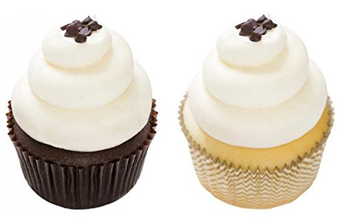 (Gluten Free Cupcakes - Dessert - Vanilla and Chocolate - 12 Pack - Baked Fresh Day of Order)