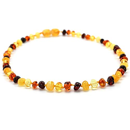 Necklaces - Baltic Amber Teething Necklace/Bracelet for Baby - Simple Package - 7 Sizes - 10 Colors - Tested - by LuckyNecklaces - 1 PCs