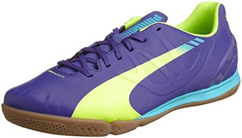 PUMA evoSPEED 4.3 IT - Zapatillas para hombre, color violeta (violett (prism violet-fluro yellow-scuba blue 01)), talla 42