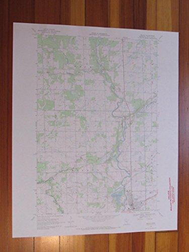 Milaca Minnesota 1970 Original Vintage USGS Topo Map