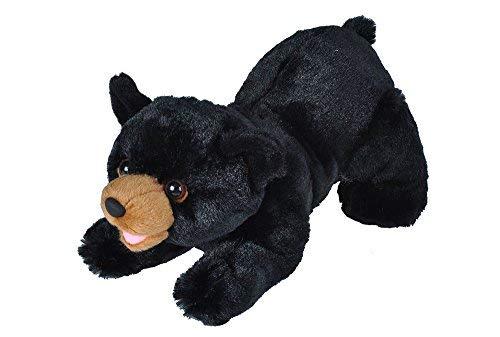 (Wild Republic Black Bear  Plush, Stuffed Animal, Plush Toy, Gifts For Kids, Playful Series 10 Inches)
