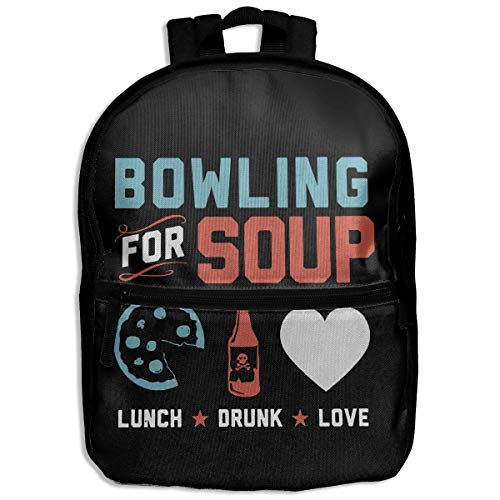 Moniyo Fashion School Backpack Bowling for Soup Outdoor Casual Shoulders Multipurpose Backpack Travel Bags for Children,Kids Black (The Very Best Of Bowling For Soup)