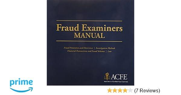 fraud examiners manual association of certified fraud examiners rh amazon com Association of Certified Fraud Examiners Certified Fraud Examiner Exam