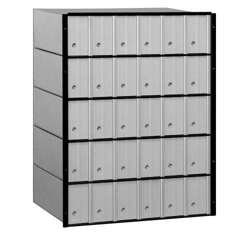 Salsbury Industries 2230  Standard System Aluminum Mailbox with 30 Doors Apartment Mailboxes