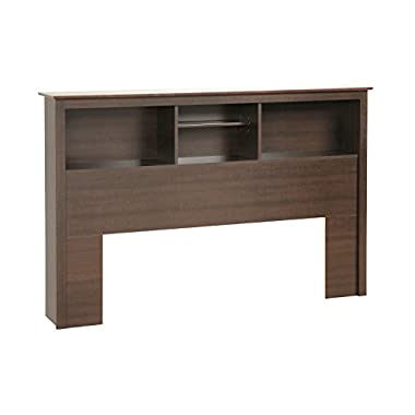 Espresso Full / Queen Bookcase Headboard