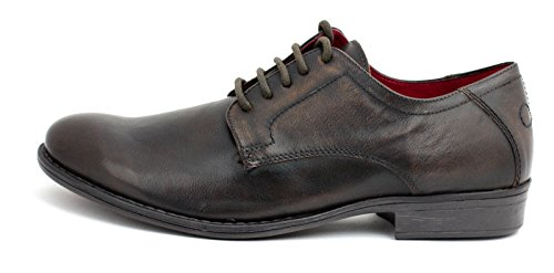 Red Tape, Scarpe stringate uomo marrone Dark Tan