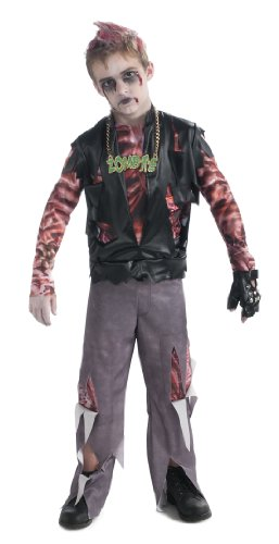 [Boy's Zombie Punk Rocker #1 Costume, Small] (Horror Costumes For Kids)