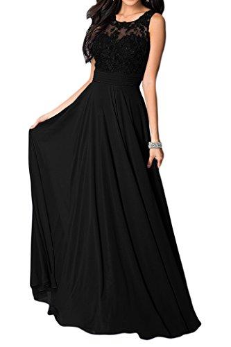 mujer para Missdressy Vestido Negro trapecio 4w8pzqA