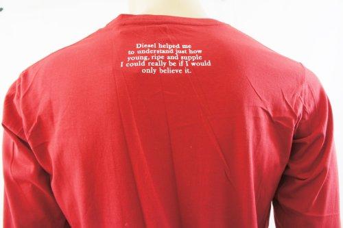 DieselHerren T-Shirt Rot Rot
