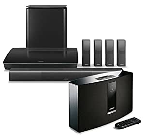 bose lifestyle 650 home entertainment system black with soundtouch 20 series iii. Black Bedroom Furniture Sets. Home Design Ideas