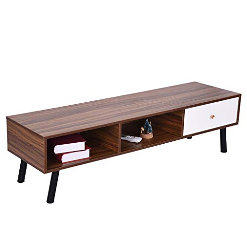 GXOK TV Stand with Drawer,Retro TV Stand Storage Console Cabinet Modern Entertainment Center,Media Entertainment Center Home Living Room Furniture, TV Stand Cabinet[Ship from USA Directly]