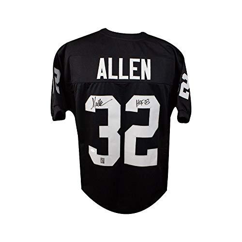 Marcus Allen HOF Autographed Oakland Raiders Custom Black Football Jersey - JSA