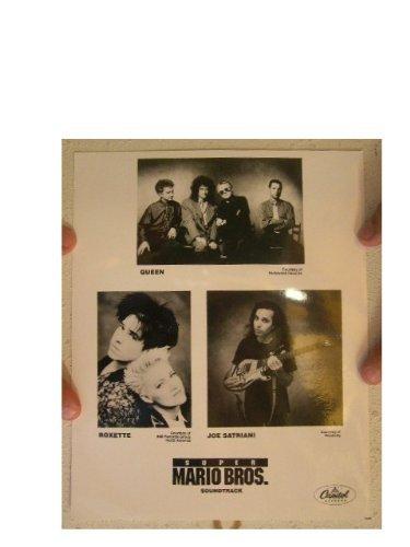 Queen Joe Satriani Roxette Super Mario Bros. Soundtrack Press Kit Photo Brothers from RhythmHound