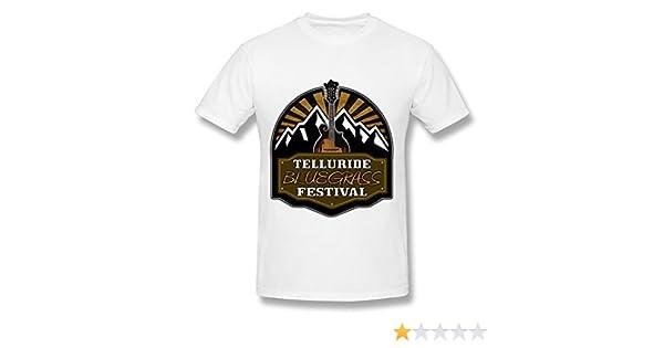 599b31d1 Amazon.com: QDJT Men's Telluride Bluegrass Festival 2015 T-shirt - XXL  White: Clothing